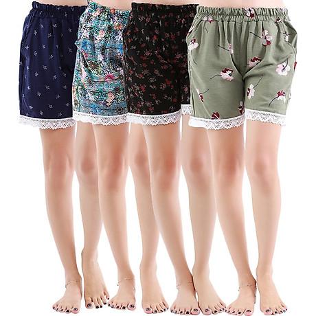 Combo 4 quần short nữ hoạ tiết thổ cẩm Phúc An 3014 1