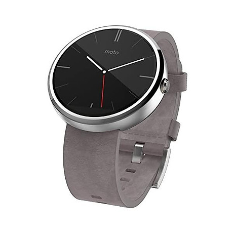 Motorola 1.56-Inch Moto 360 Smartwatch 23mm for Android and iphone - Light Metal (Discontinued by Manufacturer) 1