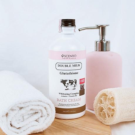 Combo Sữa tắm + Dưỡng thể trắng da Scentio Double Milk Triple White + Tặng kèm Muối tẩy tế bào chết Milk Plus 300g 5