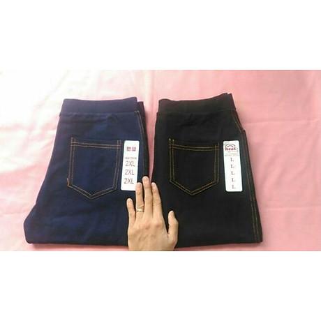 Quần legging giả jeans 4 túi dáng lỡ 4