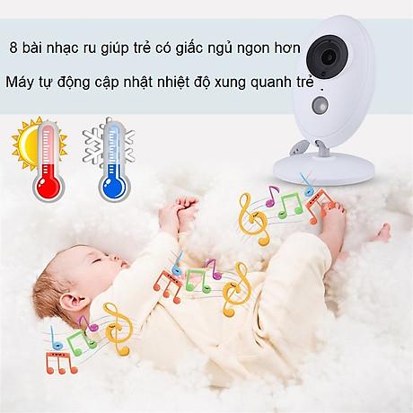 Máy báo khóc màn hình 3.5inch XF80 ( XOAY 360 ĐỘ TIỆN LỢI ) 6