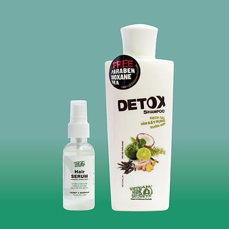 Combo Dầu gội Detox và Hair Serum VIETNAM HERBAL SECRETS 1