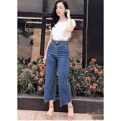 quần jean nữ, quần bò nữ ống rộng 1