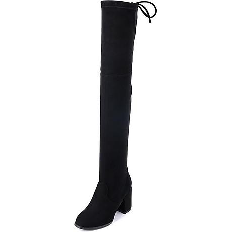 Giày bốt nữ cổ cao qua gối cao 6cm da lộn GCC1901 3