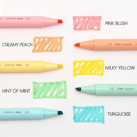 Xiaomi KACO 5 màu Bút dạ quang Bộ bút chì màu nổi bật cho trường học Bút đánh dấu VĂN PHÒNG 4
