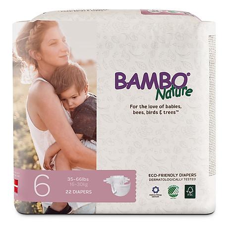 Tã Dán Em Bé Hữu Cơ Bambo Nature - gốc Đan Mạch - 16-30kg - XXL22 - 22 miếng 1