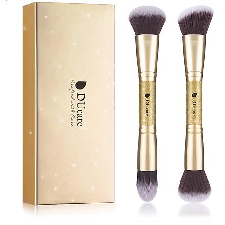 Combo cọ trang điểm DUcare 2 PCS Double-ended Makeup Brushes Foundation Powder Contour Brush 1