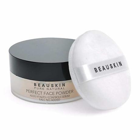 Phấn phủ bột Beauskin Perfect Face Powder Hàn Quốc 30g 21 Natural Beige tặng kèm móc khoá 2