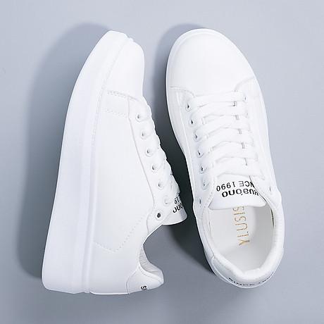 Giày thể thao nữ - giày sneaker nữ mầu trắng đế cao ST008W 2