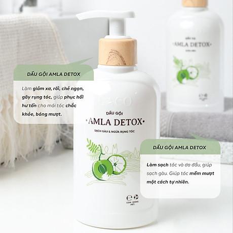 Dầu Gội Organic Amla Detox - Thương hiệu Laco - Cho tóc Chắc khỏe Ngăn ngừa Rụng và giảm gẫy rụng 3