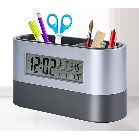 Hộp đựng bút kiêm đồng hồ để bàn V3 (Tặng kèm quạt mini cắm cổng USB vỏ nhựa giao màu ngẫu nhiên) 2