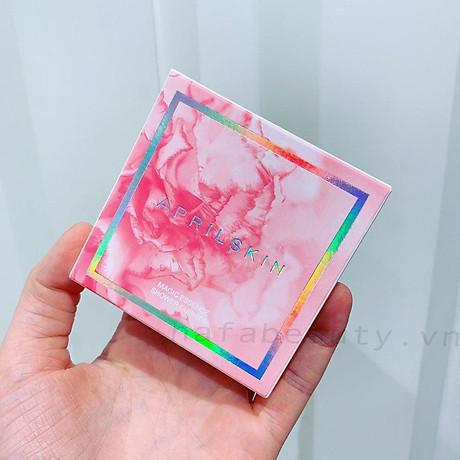Phấn Nước Aprilskin Magic Essence Shower Cushion SPF50 PA++++ 13g + Tặng kèm 1 băng đô tai mèo xinh xắn ( màu ngẫu nhiên) 6