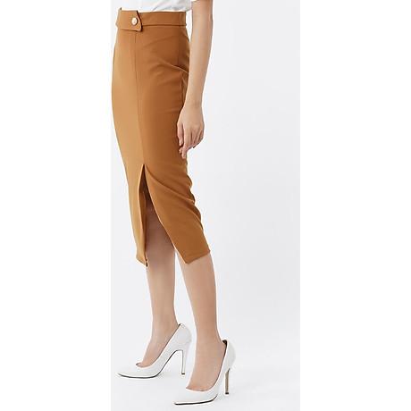 Chân váy ôm form dài phối nút 2