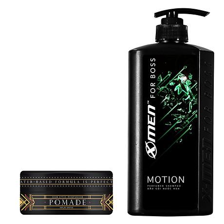 Combo Dầu gội nước hoa X-Men for Boss Motion 650g + Pomade tạo kiểu tóc X-Men For Boss High Hold 60g 5