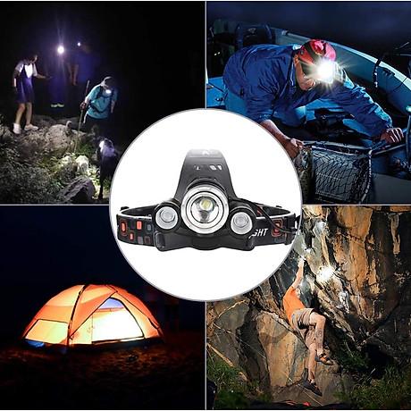 Đèn pin đội đầu 3 bóng L4 - thiết bị chiếu sáng đeo đầu tiện dụng 2