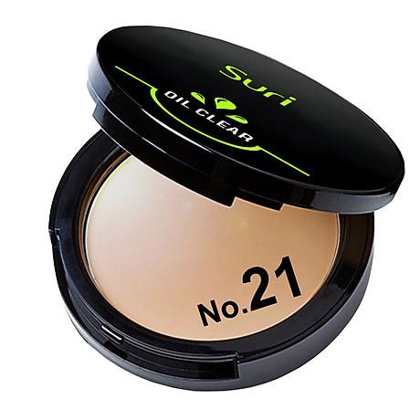 Phấn Trang Điểm Suri Oil Clear Smooth & Bright Powder Hàn Quốc 12g No.21 Da tự nhiên tặng kèm móc khóa 2