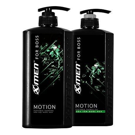 Combo Dầu gội nước hoa X-Men for Boss Motion 650g + Sữa tắm nước hoa X-Men for Boss Motion 650g 1