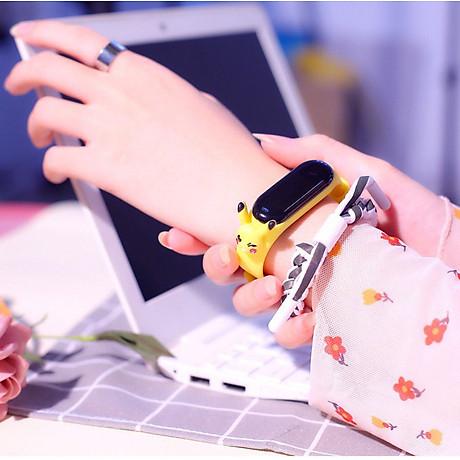 Đồng Hồ Điện Tử Trẻ Em Đèn Led Họa Tiết Hoạt Hình 3D Xinh Xắn DH109 2