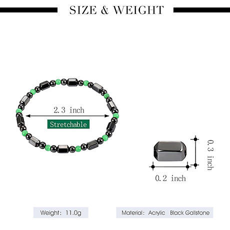 1 PCS Weight Loss Healthcare Round Black Stone Magnetic Therapy Hand Chain Body Care Hematite Stretch Bracelet Magnet 8