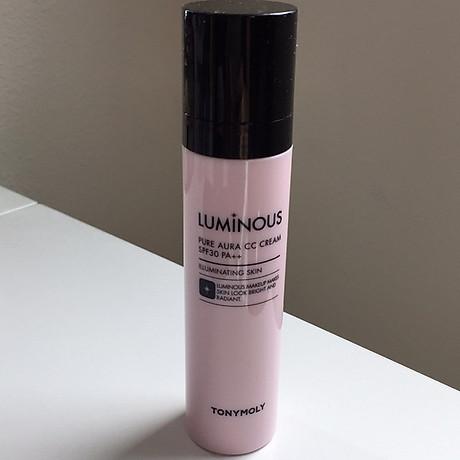 Kem Nền Cao Cấp CC Nâng Tông Tonymoly Luminous Pure Aura CC Cream 3