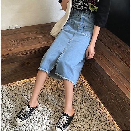 Chân váy JEAN nữ dáng dài dễ thương - CV09 7