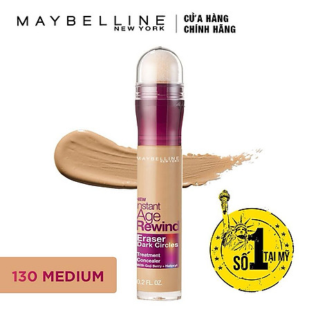 Bút Che Khuyết Điểm Maybelline Age Rewind - Màu 130 Medium 6,2ml 2
