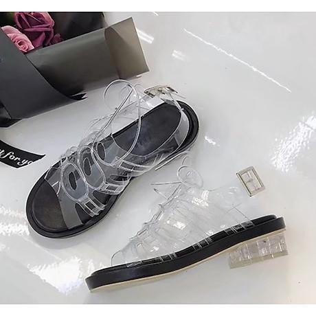 Giày sandal quai trong đế thấp phong cách gladiator S373 4