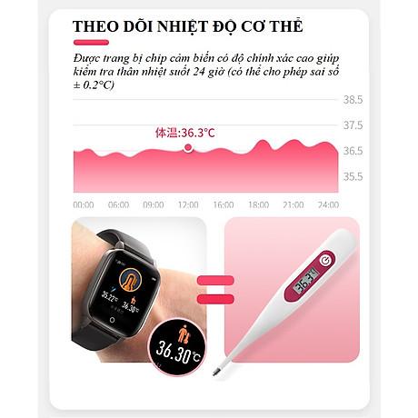 Đồng hồ theo dõi sức khỏe đa năng T_1_Q - Đồng hồ thông minh 5