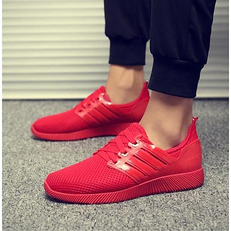 Giày thể thao cặp đôi nam nữ buộc dây C95 đỏ 7