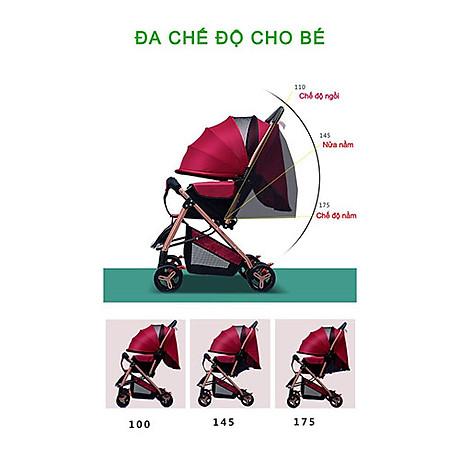 Xe đẩy cho bé HUAYING ,Xe đẩy em bé 2 chiều 3 tư thế màu đỏ,màu xanh,màu kaki,màu hồng 3