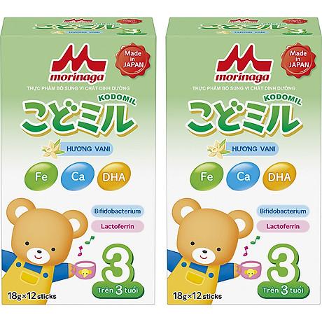 Combo 2 hộp Sữa Morinaga số 3 Hương vani (Kodomil) 216g 1
