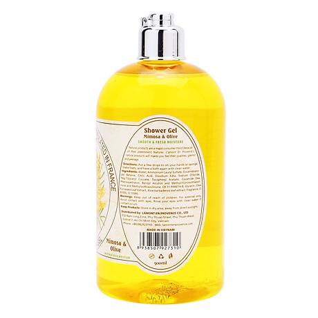 Sữa Tắm L amont En Provence Mimosa Shower Gel - Hương hoa Mimosa 500ml 3