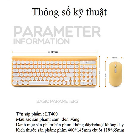 Bộ bàn phím và chuột không dây LT400 phiên bản sạc (tặng kèm lót chuột) - Hàng Nhập Khẩu 3
