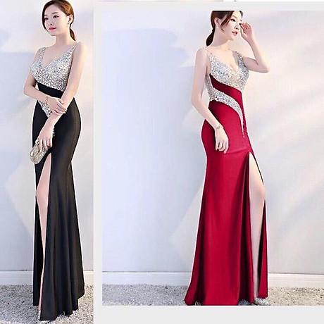 Đầm dạ hội kim sa cao cấp 1