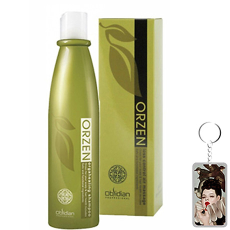 Dầu gội chống rụng tóc Obsidian Professional Orzen Orgahealing Shampoo Hàn Quốc 320ml tặng kèm móc khoá 1