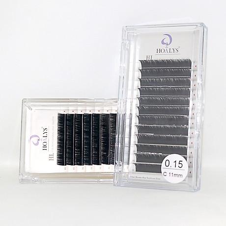 Lông Mi Nối-Mi HL Hoalys EL-04 - , Sợi mi dày hơn và đen đậm, tạo nên nhưng bộ mi thật ấn tượng, độ dày 0.15, độ công B, C, CC và chiều dài 5-16mm 1