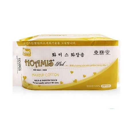 Bông Tẩy Trang Cao Cấp Korea PN 100 Hoamis (100 Miếng) 1