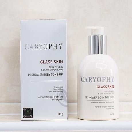 Kem Dươ ng Tră ng Da Caryophy Glass Skin In Shower Body Tone Up 300g - du ng la m tă m tră ng, dươ ng tră ng, che mơ khuyê t điê m 4