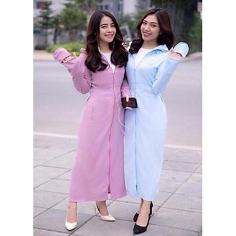 Áo chống nắng nữ liền thân, vải dày, dài tới gót chân, chống tia UV 4