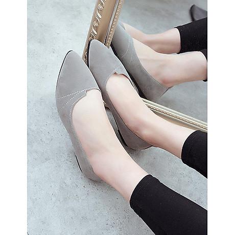 Giày đế bằng búp bê nữ da lộn full size nhiều màu V215 7