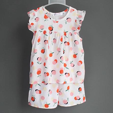 Bộ mặc nhà vải tole lanh tay cánh tiên thoáng mát cho mẹ và bé gái 3
