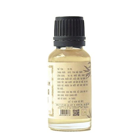 Bộ 4 chai tinh dầu tràm Huế - dầu tràm Hoàng Cung 20ml 5