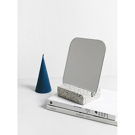 Gương để bàn Monote Terazo kèm đế giữ gương màu đá cao cấp 3