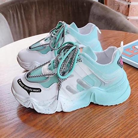 Giầy thể thao nữ Sneaker đế màu cực cá tính 2020 7