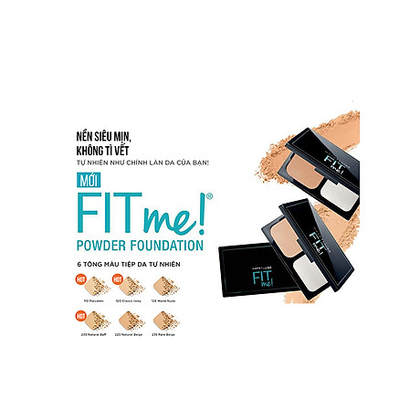 Phấn Nền Maybelline Fit Me Skin-Fit Powder Foundation 9gr Siêu Mịn Màng PM714 5