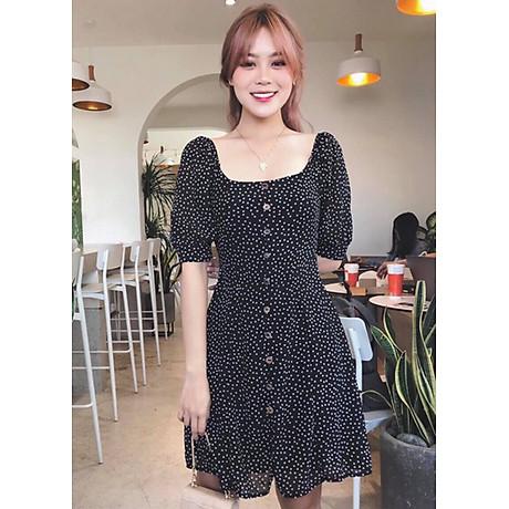 Đầm Bi Cổ Vuông - Đen (Free Size) 1
