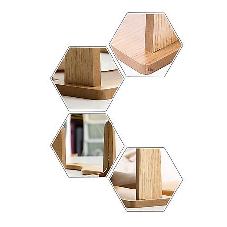 Gương trang điểm cao cấp chất liệu gỗ ép, điều chỉnh góc nhìn 360 độ loại lớn 2