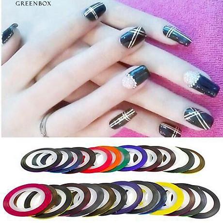 Set 10 cuộn băng keo trang trí móng DIY phong cách tao nhã - decal dán móng Nail nghệ thuật 7