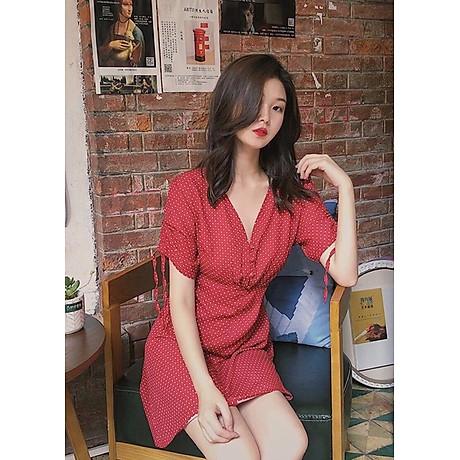 Đầm bi đỏ tay rút 3