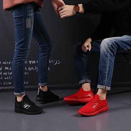 Giày thể thao cặp đôi nam nữ buộc dây C95 đỏ 3